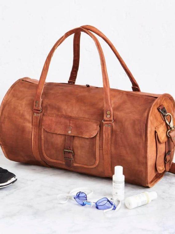 eb441b37c6d0 20-round-leather-duffel-gym-bag