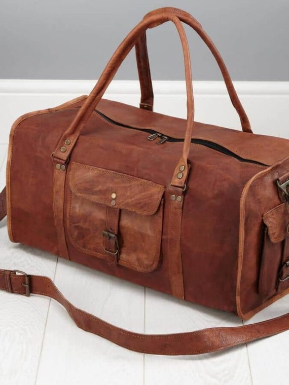 2cab813aa8a6 20-square-leather-duffel-mens-travel-bag. Quick Shop
