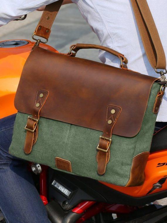 330ec1101931 handmade-styllish-Canvas-leather-laptop-bag